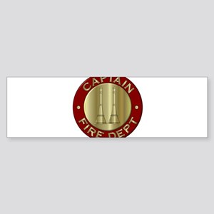 Fire captain emblem bugles Bumper Sticker